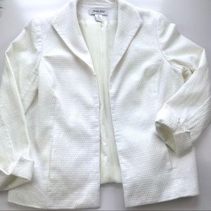 Judith Hart Off white blazer / Jacket Sz 14P